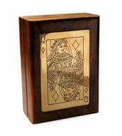 Handmade Queen Playing Card Wooden Box Personalised | County Engraving